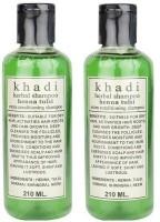 Khadi Herbal Henna Tulsi Shampoo Pack Of 2 (420 Ml)