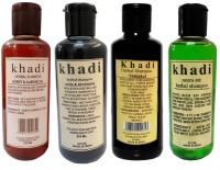 Khadi Herbal Honey & Almond, Amla & Bhringraj ,Shikakai And Neem Sat Shampoo Combo-4 (840 Ml)