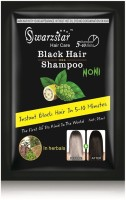 Swarzstar Hair Color Shampoo Black-Noni Extract 250ml (Pack Of 1o =25 Ml*10 Sachets) (250 Ml)