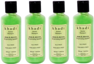 Khadi Herbal Neem And Aloe Vera SLS And Parabens Free Shampoo (840 Ml)