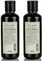Khadi Herbal Amla & Bhringraj Shampoo Pack Of 2 (420 Ml)