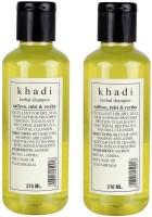 Khadi Herbal Saffron, Tulsi & Reetha Shampoo Twin Pack (420 Ml)