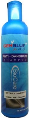 Biocare GemBlue Anti-Dandruff Shampoo - Controls Dandruff Itching And Flaking (500 Ml)