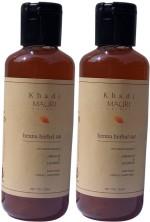 Khadi Mauri Henna Herbal Sat Shampoo Pack of 2 Premium Natural