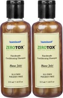 Healthbuddy Zerotox Handmade Conditioning Shampoo Heena Tulsi, 2 Packs Of 210 Ml Each (420 Ml)
