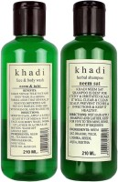 Khadi Herbal Neem & Tulsi Face & Body Wash And Neem Sat Shampoo (420 Ml)