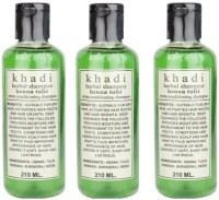 Khadi Herbal Henna Tulsi Shampoo Pack Of 3 (630 Ml)