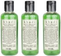 Khadi Herbal Henna Tulsi Shampoo Pack Of 3 (630 Ml)