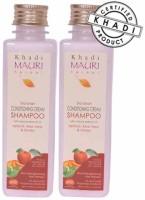 Khadi Mauri Conditioning Cream Shampoo - Pack Of 2 - Premium Natural Herbal (500 Ml)