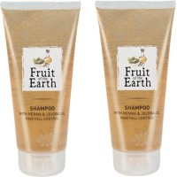 Fruit Of The Earth Henna And Jojoba Shampoo New Pack-Prevent Hair Fall (Pack Of 2) (400 Ml)