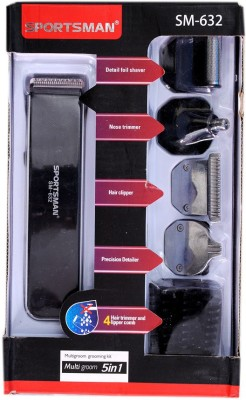Sportsman SM-632 632 Grooming Kit For Men (Multicolour)