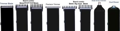 Kemei Professional km-3580 Grooming Kit For Men (White & Black)