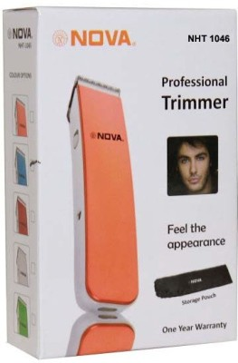 Nova Smart Cordless NHT 1046 Trimmer For Men (White)