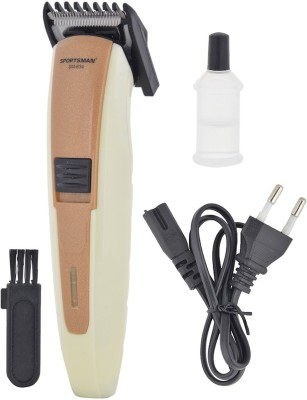 Sportsman Professional Rechargeable Clipper SM-634 Trimmer, Body Groomer For Men, Women (Baze)