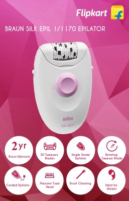Braun Silk-epil Series 1 1170 Epilator for Women