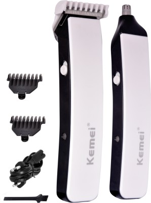 Kemei Professional Km-3560 Ear, Nose & Eyebrow trimmer For Men (White)