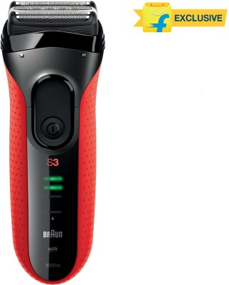 Braun Electric Series 3 3050CC Shaver For Men (Black, Red)