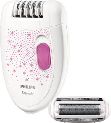 Philips Satinelle Essential BRE201/00 Epilator For Women (Pink, White)