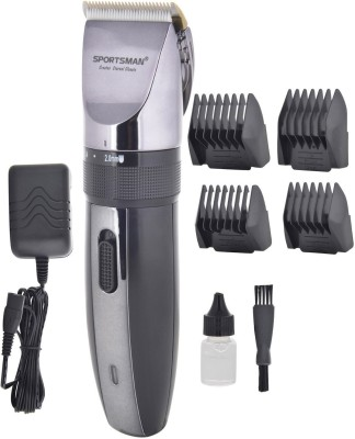Sportsman Professional Rechargeable Clipper SM-620 Trimmer, Body Groomer For Men, Women (Dark Grey)