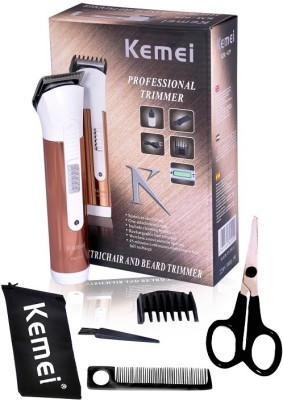 Kemei Professional Hair KM Brown Trimmer For Men (White)