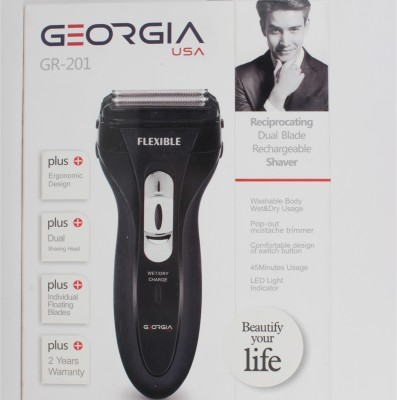 Georgio USA GR- 201 Shaver For Men (Black)