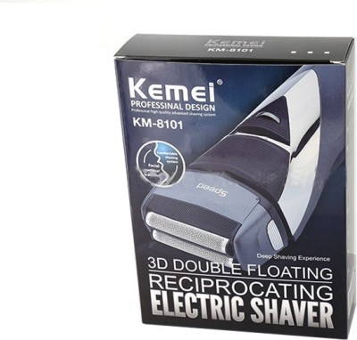 Kemei 3D Double Floating Reciprocating Electric KM-8101 Shaver For Men (Red)