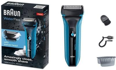 Braun Waterflex WF2S Shaver For Men (Blue, Black)