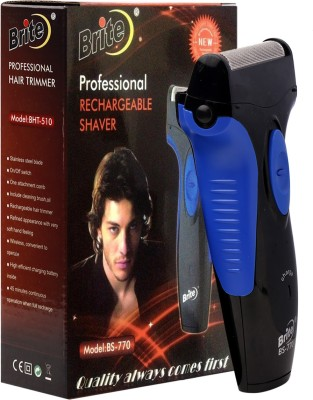 Brite Rachargeable Shaver BS-770 Shaver For Men, Women (Black, Blue)