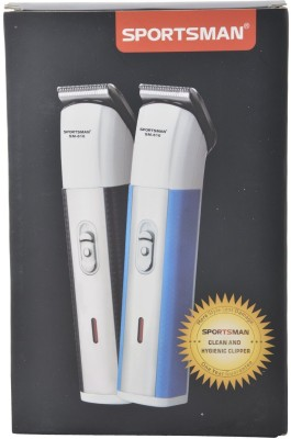 Sportsman Professional Rechargeable Clipper SM-616 Trimmer, Body Groomer For Men, Women (Blue)