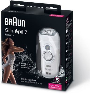 Braun Silk Epil 7681 Epilator – Wet and Dry  (White)