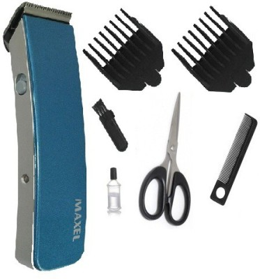 Maxel Rechargeable Cordless AK 207 Blue Trimmer For Men (Blue)