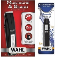 Wahl Mustache Beard With Nosal 5537-4434 5567-324 Trimmer, Ear, Nose & Eyebrow Trimmer For Men (Black)