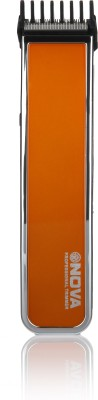 Nova Advanced Skin Friendly Precision NHT 1055 O Trimmer For Men (Orange)