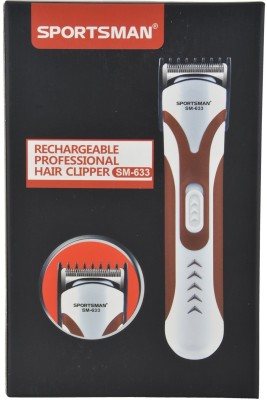 Sportsman Professional Rechargeable Clipper SM-633 Trimmer, Body Groomer For Men, Women (Blue)