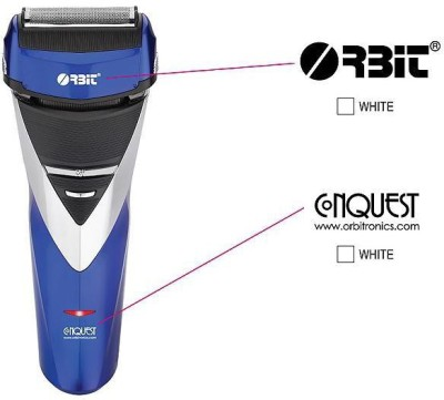 Orbit Conquest Rechargeble 2 Head Shaver Trimmer For Men (Blue, black)