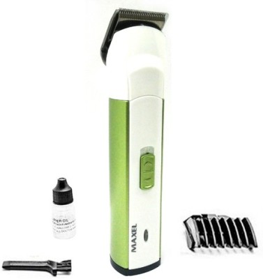 Maxel Rechargeable AK-301 Trimmer For Men, Women (Green)