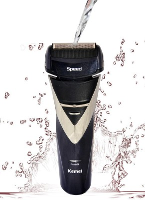 Kemei 3 Blades Waterproof 8102 Black Shaver For Men (Black)