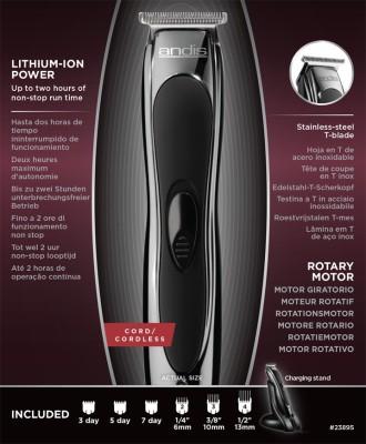 Andis Slimline Ion Btf-3 Trimmer For Men (Black)