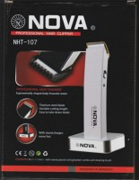 Nova Professional Hair Clipper NHT-107 Trimmer For Men (White, Black)