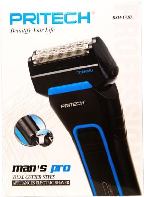 PRITECH Body Groomer RSM-1310 Shaver For Men (blue)
