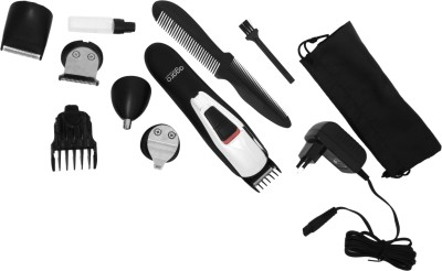 Agaro 6 in 1 Grooming kit MG6725 Trimmer For Men (White, Black)