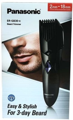 Panasonic ER   GB30 K Trimmer Black available at Flipkart for Rs.1105