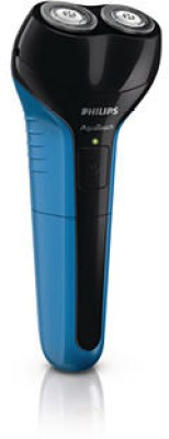 Philips AquaTouch Shaver (Wet & Dry) AT600/15 Shaver For Men (Black and Blue)