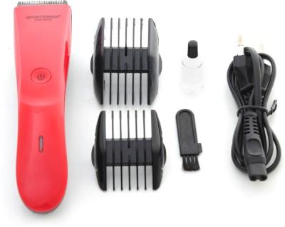Sportsman Professional Hair Clipper SM-628R Trimmer For Men, Women (Red)
