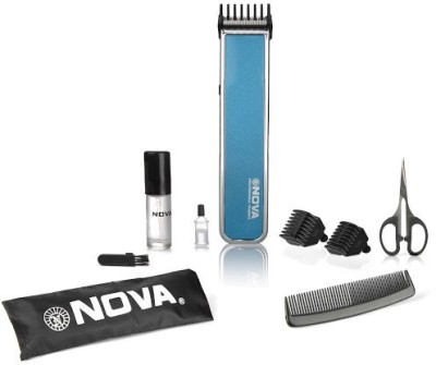 Nova Advanced Skin Friendly Precision NHT 1055 B Trimmer For Men (Blue)