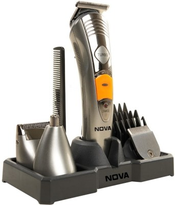 Nova Multi Grooming KIT 7 IN 1 NG 1095 Trimmer For Men (Silver)
