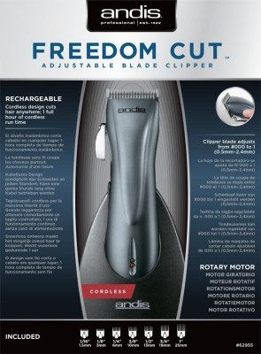 Andis RCC-2 FreedomCut Clipper with Adjustable Blades RCC-2 Clipper For Men (Black)