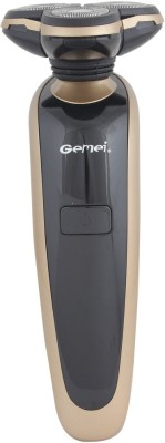 Gemei Rechargeable GM-6300 Shaver For Men (Gold and Black)