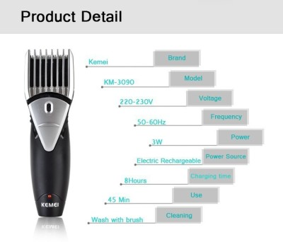 Kemei Professional km-3090 Trimmer, Clipper For Men (Multicolour)
