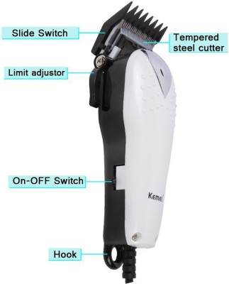 Kemei Professional Hair Clipper KM-555 Trimmer For Men (Multicolor)